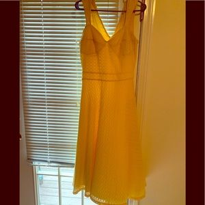 Yellow Bettie page pin up dress